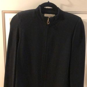 Worn once ST JOHN CLASIC ZIP UP SWEATER